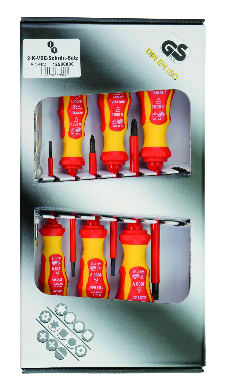 7 Stücke Elektriker Isolierte Schraubendreher Set mit Koffer Elektrowerkzeug